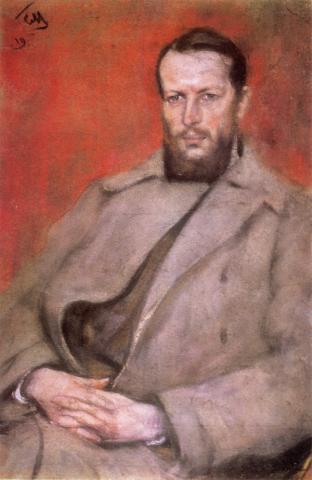 Николай Дмитриевич Виноградов, портрет кисти С. М. Малютина из Львовского художественного музея, 1918